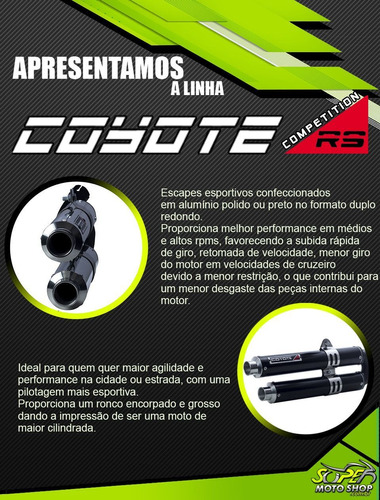 escape ponteira coyote competition ybr factor 125 09/16 pto