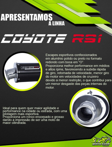 escape ponteira coyote rs1 alum cg 150 titan fan ks es 09/13