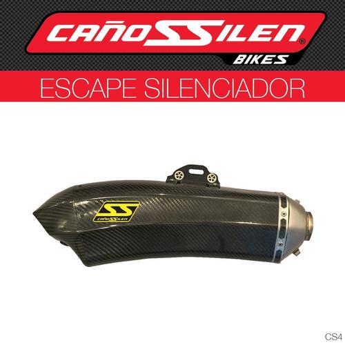 escape silenciador universal cañossilen para moto cs4