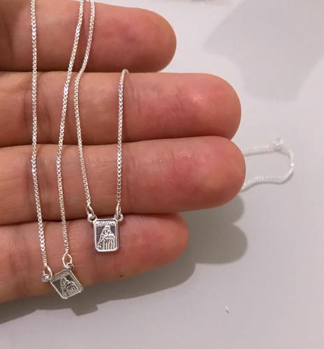 escapulário 70 prata 925 masculino/ feminino