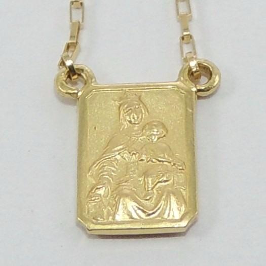 0dac912982fe1 Escapulário 70cm Ouro 18k Cordão Cartier Medalhas Dupla Face - R ...