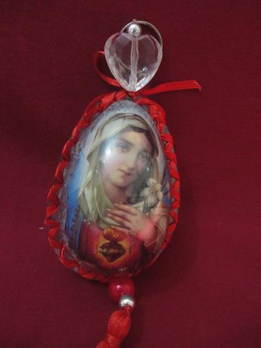 escapulário católico de porta - imaculado coração de maria!