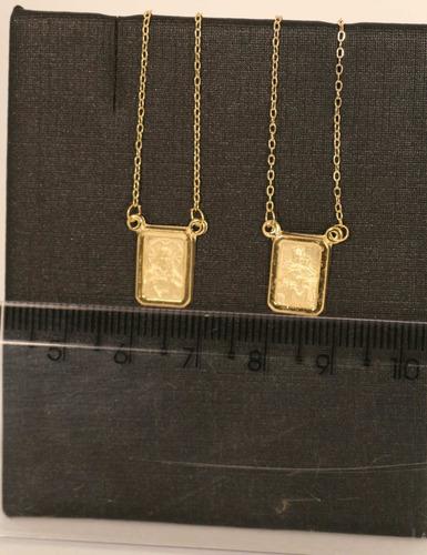 escapulário de ouro 18k c/ nf e garantia