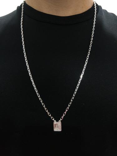 escapulário de são jorge 70 cm prata 925 elo forte cartier