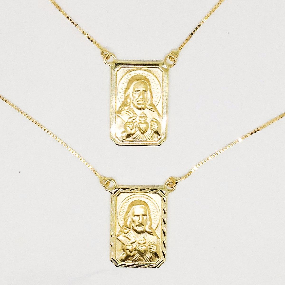 3d6187a0e4c01 escapulário em ouro 18k dupla face frete grátis. Carregando zoom.