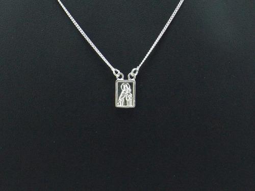 escapulário feminino prata jóias