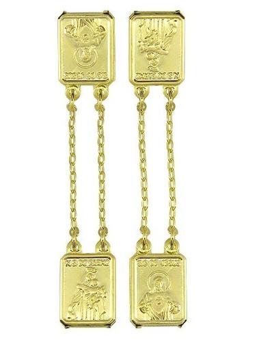 escapulário folheado ouro