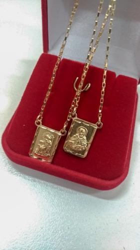 escapulário jóia ouro