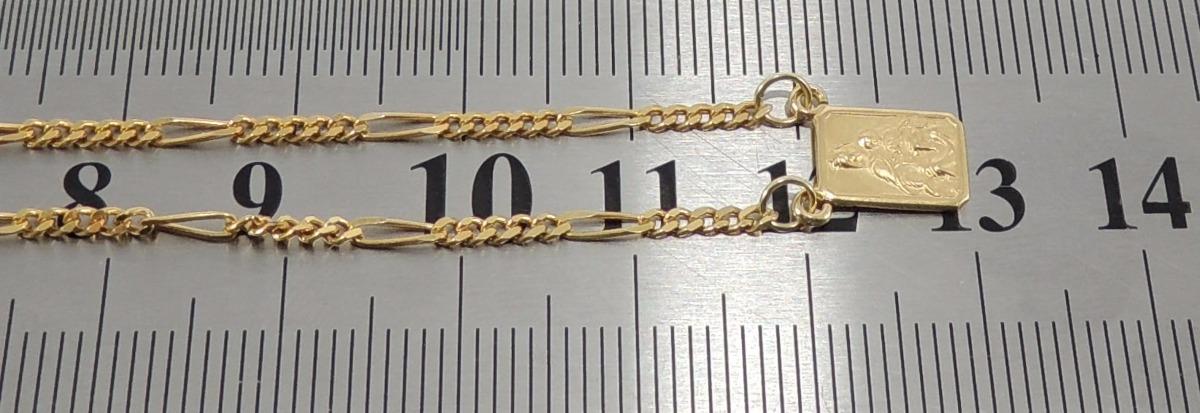 29a75525fce07 escapulário masculino corrente figaro 5x1 60 cm ouro 18k 750. Carregando  zoom.