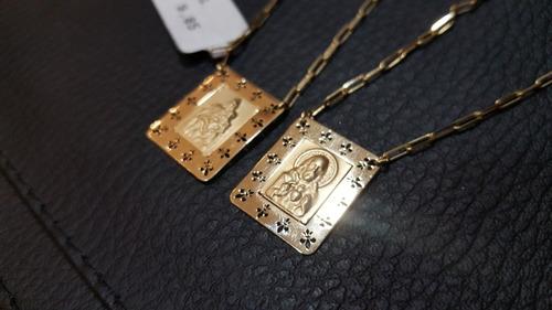 escapulário masculino ouro
