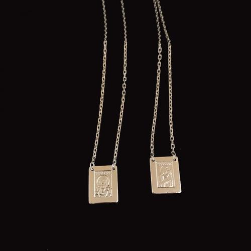 escapulário masculino prata 925 italiana 60cm