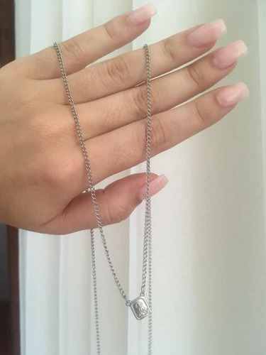 escapulário masculino prata rommanel