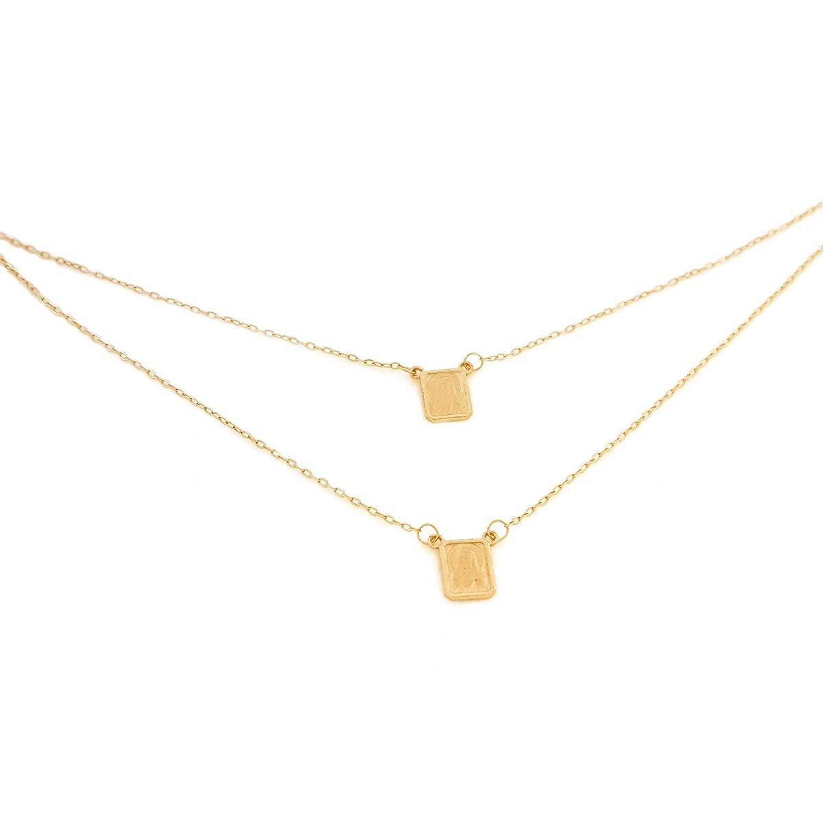 462e7afd6ac0d Escapulário Mini-cadeado Em Ouro Dupla-face 60cm - R  833,56 em ...