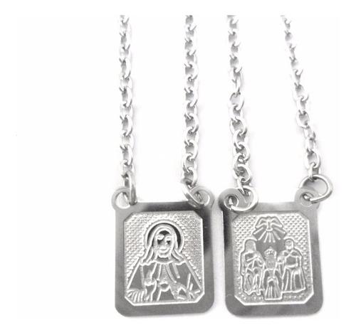 escapulário placa símbolo divino pai eterno aço cirúrgico