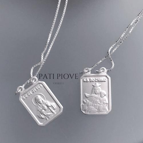 escapulário prata s c jesus n s carmo católico veneziana 918