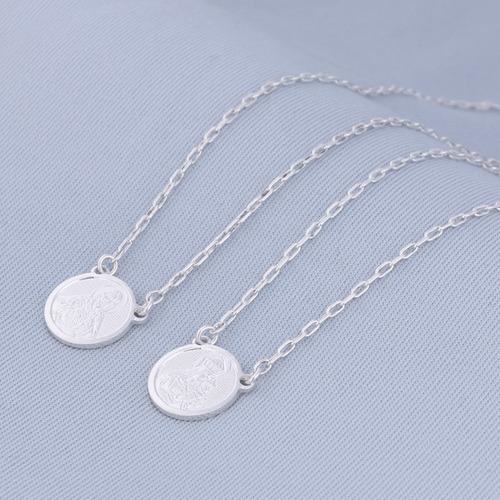 escapulario prata sagrado coracao redondo r 3127