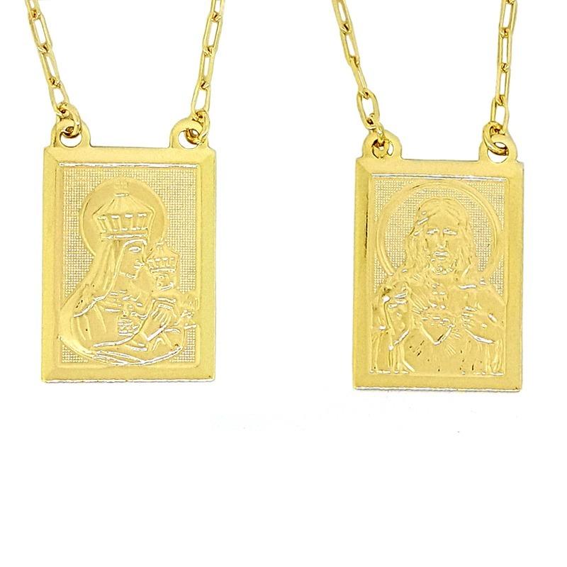 5d99dd247eb Escapulário Sagrado Coração Medalhas Grandes Karola 2º Sol - R  79 ...