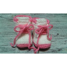 Escarpines - Botitas - Zapatitos Tejidos Al Crochet