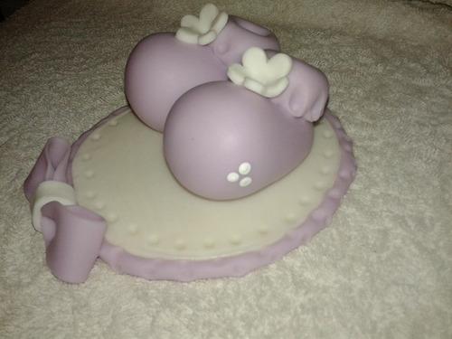 escarpines adorno torta