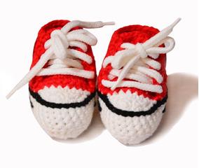 Escarpines Bebe Tejido Crochet Tipo Convers Talle 0