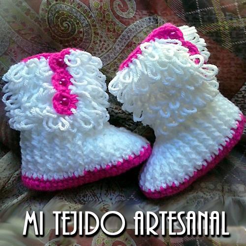 Escarpines Botas Tejidos Al Crochet Para Tu Bebe -   380 f850a15ca73