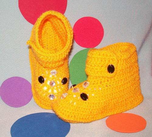 escarpines tejidos para bebés