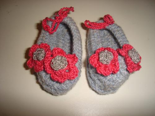 escarpines - zapaticos tejidos - bebe