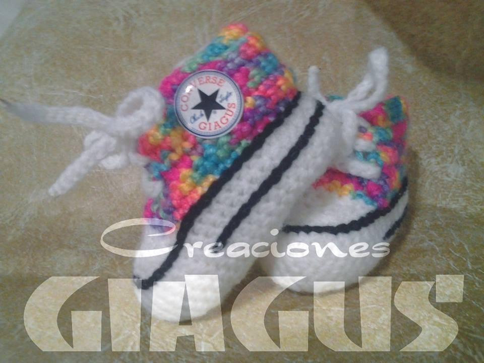 f18acbcd4 zapatillas bebe crochet tipo converse
