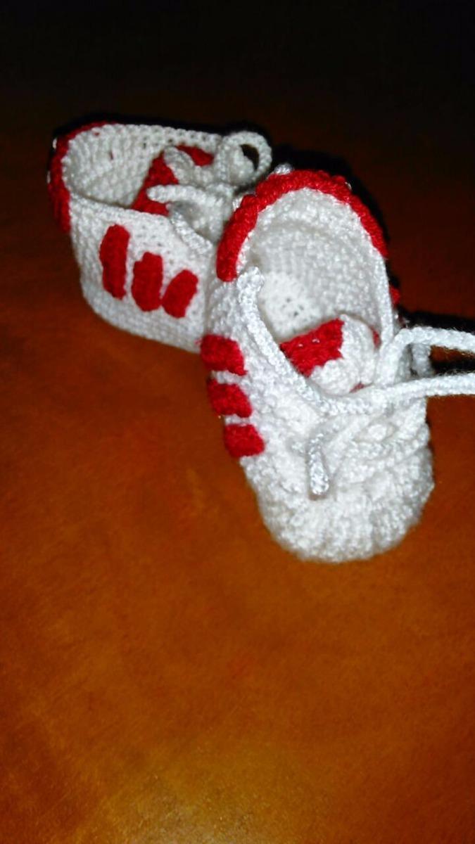 0002c3593 escarpines zapatos tejido crochet para bebes adidas converse. Cargando zoom.