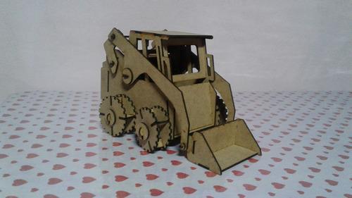 escavadeira bobcat patrola mdf quebra cabeça 3d puzzle