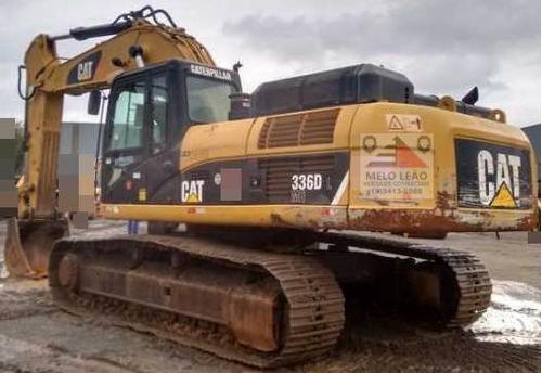escavadeira caterpillar 336dl - ano 2010 - c/ apenas 8.485 h