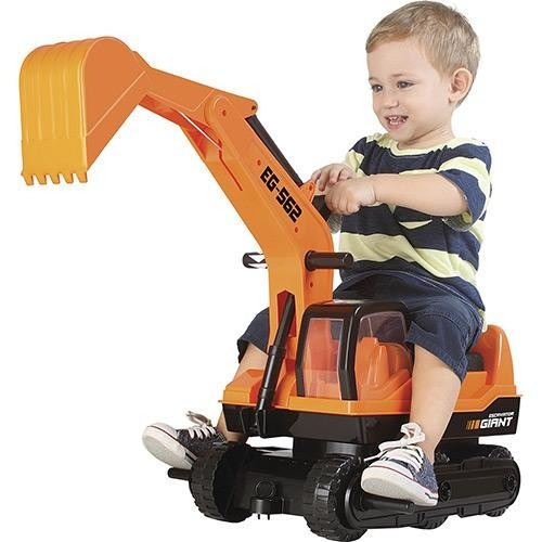 escavadeira gigante infantil giant escavator- roma brinquedo
