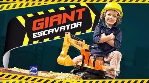 escavadeira gigante infantil giant escavator roma oferta