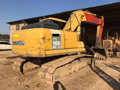 escavadeira hidráulica pc 160 toda revisada