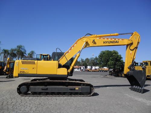 escavadeira hyundai robex 250 lc-7 - ano 2008, ótimo estado