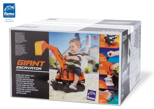 escavadeira infantil giant escavator roma brinquedo oferta