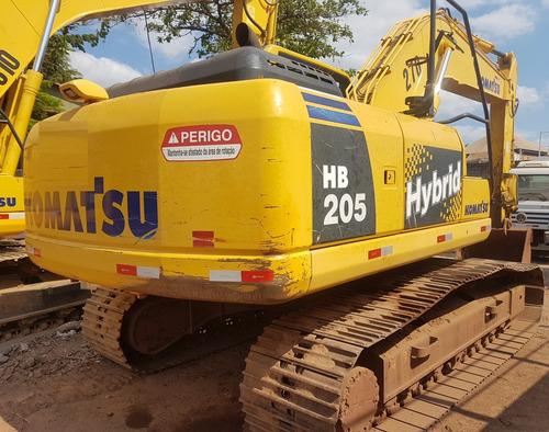 escavadeira komatsu hb 205 - 2013