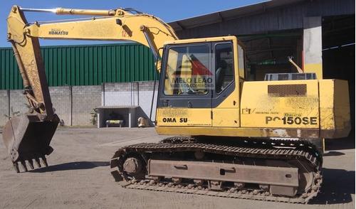 escavadeira komatsu pc150 - 03/03 - poucas horas de uso