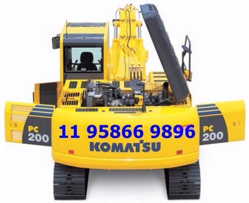 escavadeira komatsu pc200 2017 - últimas unidades