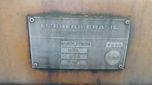 escavadeira liebherr 942 ano 1998