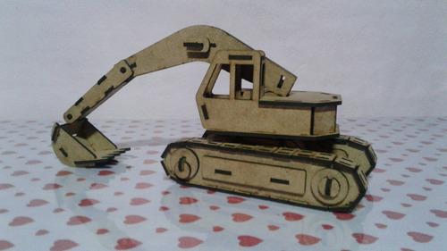 escavadeira patrola 2 mdf quebra cabeça 3d puzzle