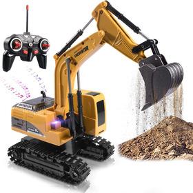 Escavadeira Remota Toy Truck Rc Escavadora Metal Pá