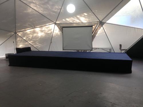 escenario modular 10x3, 8x4, 6x3, 4x3, etc