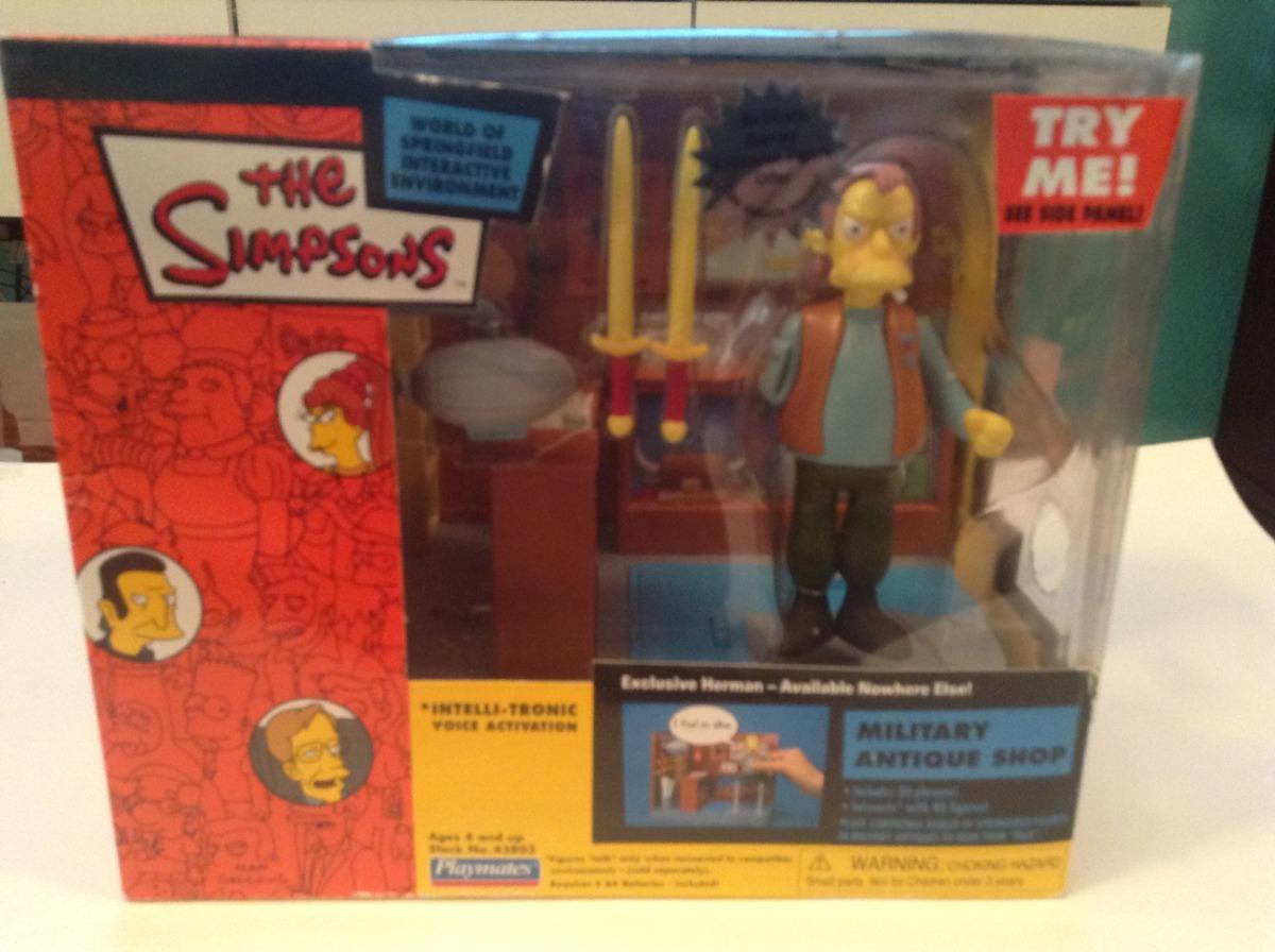 Escenario Tienda Militar Con Herman Los Simpsons Jugarmates