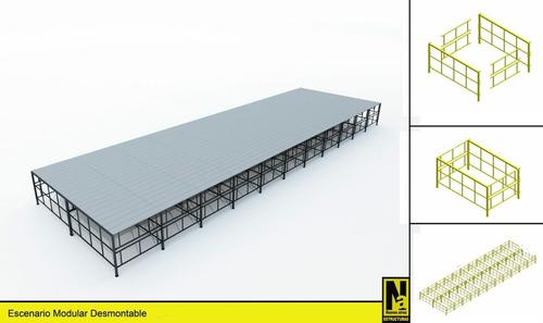 escenarios tarimas palcos pasarelas gradas