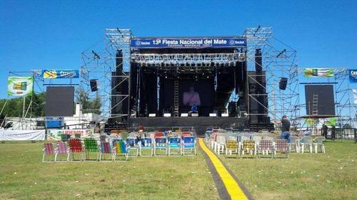escenarios uruguay - gradas - tarimas - vallas - barras