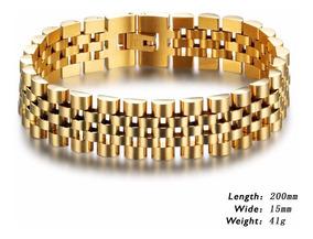 de5daf562d59 Esclava Brazalete De Acero Inox Color Oro Envio Gratis