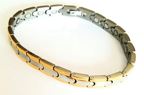 esclava de oro  20 cms imanes con oro- acero inox.