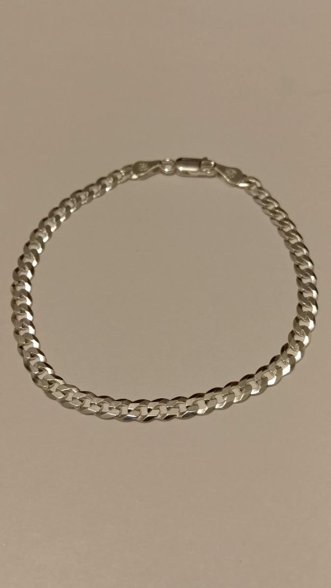 7108c07dc334 esclava de plata 925 barbada de 4mm y 20 cm para hombre. Cargando zoom.