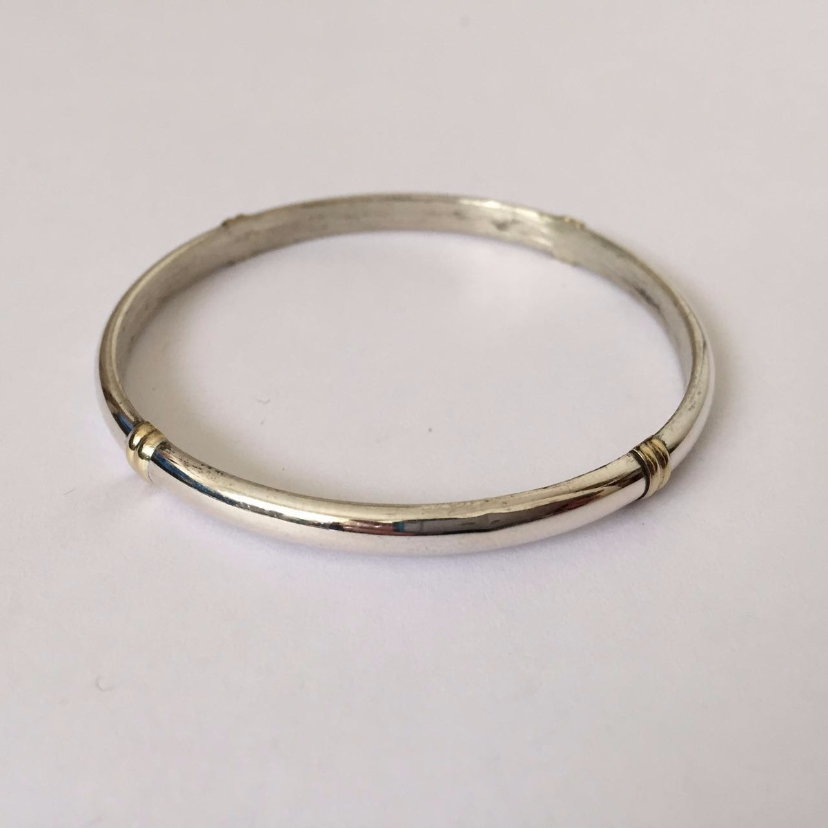 6819cea054a8 esclava de plata 925 media caña hueca con oro 5mm   geh5co. Cargando zoom.